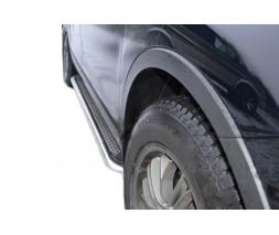Mazda CX-5 2012-2017 гг. Боковые пороги Maydos V2 (2 шт., нерж)