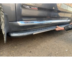 Mazda CX-5 2012-2017 гг. Боковые пороги Bosphorus Grey (2 шт., алюминий)