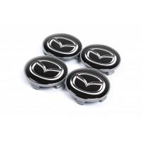 Колпачки в титановые диски 65мм (4 шт) для Mazda CX-5 2012-2017