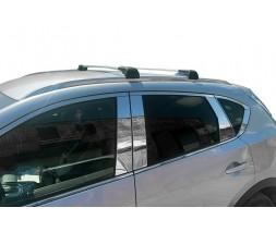 Mazda CX-5 2017+ гг. Поперечный багажник (2 шт, алюминий) Черный цвет