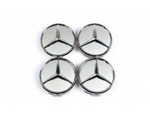 Колпачки в оригинальные диски (4 шт) 69мм внешний (62 мм внутренний) для Mercedes A-сlass W168 1997-2004