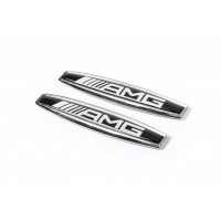 Наклейки на крыла (2 шт, металл) AMG для Mercedes A-сlass W168 1997-2004