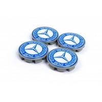 Колпачки в титановые диски 65мм (4 шт) для Mercedes A-сlass W176 2012-2018