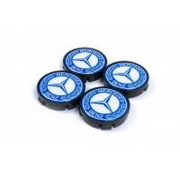 Колпачки в титановые диски 55мм (4 шт) для Mercedes A-сlass W176 2012-2018