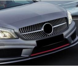 Mercedes A-сlass W176 2012-2018 гг. Передняя решетка Diamond SIlver (2015-2018)