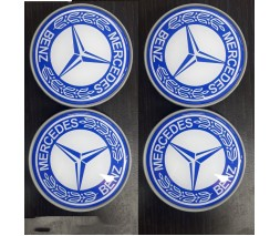 Mercedes C-сlass W205 2014-2021 гг. Колпачки в титановые диски 65мм (4 шт)