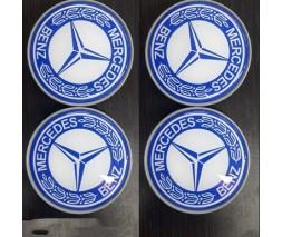 Mercedes Citan 2013+ гг. Колпачки в литые не оригинальные диски (4 шт) 60мм внешний (55.5 мм внутренний)