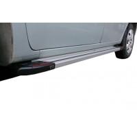 Боковые пороги Rainbow (2 шт., алюминий) Короткая база для Mercedes Citan 2013+