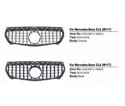 Mercedes CLA C117 2013-2019 гг. Передняя решетка (2013-2016, GT)