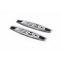 Наклейки на крыла (2 шт, металл) AMG для Mercedes CLK W208 1997-2002