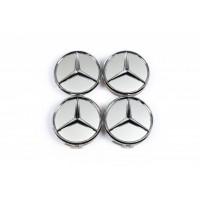 Колпачки в оригинальные диски (4 шт) 69мм внешний (62 мм внутренний) для Mercedes CLK W209 2002-2010