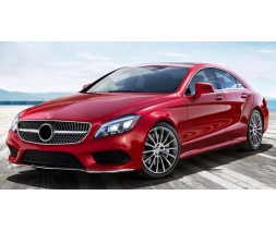 Mercedes CLS C218 2011-2018 гг. Передняя решетка 2014-2018 (Diamond Silver)