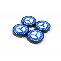 Колпачки в титановые диски 55мм (4 шт) для Mercedes CLS C218 2011-2018