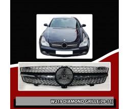 Mercedes CLS C219 2004-2010 гг. Передняя решетка (2009-2011, Diamond Silver)