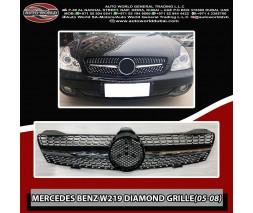Mercedes CLS C219 2004-2010 гг. Передняя решетка (2005-2008, Diamond Silver)