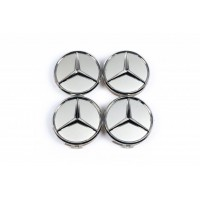 Колпачки в оригинальные диски (4 шт) 69мм внешний (62 мм внутренний) для Mercedes E-сlass W210 1995-2002