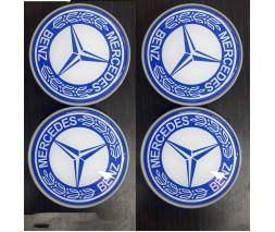 Mercedes E-сlass W211 2002-2009 гг. Колпачки в титановые диски 65 мм (4 шт)