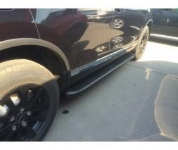 Mercedes GL сlass X164 Боковые пороги Tayga Grey Black (2 шт., алюминий)