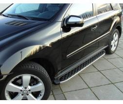 Mercedes GL сlass X164 Боковые пороги BlackLine (2 шт, алюминий)
