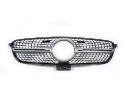 Mercedes GLE coupe C292 Тюнинг решетка радиатора (Diamond Silver) Без камеры