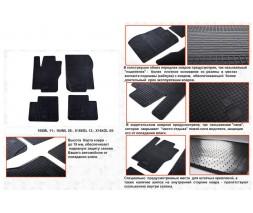 Mercedes GLE/ML klass W166 Резиновые коврики (4 шт, Stingray Premium)