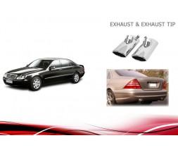Mercedes S-сlass W220 Насадки на глушитель V3 (2 шт)