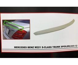 Mercedes S-сlass W221 Спойлер (ABS, под покраску)