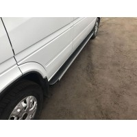 Боковые пороги Maya V1 (2 шт., алюминий) Средняя база для Mercedes Sprinter 1995-2006