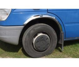 Mercedes Sprinter 1995-2006 гг. Накладки на арки (4 шт, нерж)
