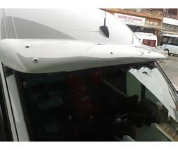 Mercedes Sprinter 2006-2018 гг. Козырек на лобовое стекло на раме (под покраску, 5мм)