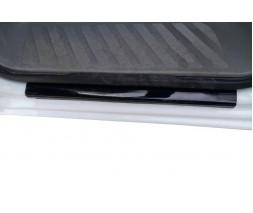 Mercedes Sprinter 2006-2018 гг. Накладки на пороги DDU (2 шт, ABS-пластик) Глянцевые