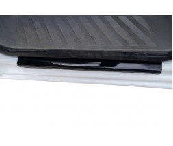 Mercedes Sprinter 2006-2018 гг. Накладки на пороги DDU (2 шт, ABS-пластик) Матовые