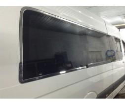 Mercedes Sprinter 2006-2018 гг. Полная окантовка стекол (нерж.)