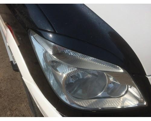 Реснички Прямые (черные, ABS, 2006-2013) Черный глянец для Mercedes Sprinter 2006-2018