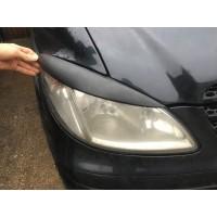 Реснички прямые (черный мат) для Mercedes Viano 2004-2015