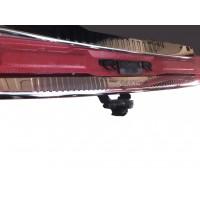 Накладка на задний бампер с загибом (Omsa, нерж) Без надписи, Матовая для Mercedes Viano 2004-2015