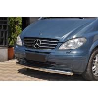 Губа нижняя одинарная ST008 (нерж) 2004-2011, 60мм для Mercedes Viano 2004-2015