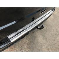 Накладка на задний бампер с загибом (Carmos, сталь) Без надписи для Mercedes Viano 2004-2015