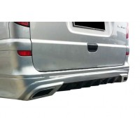 Накладка на задний бампер AMG (под покраску) для Mercedes Viano 2004-2015