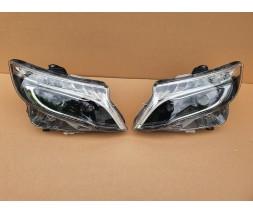 Mercedes Vito / V W447 2014+ гг. Передняя оптика LED (OEM-дизайн, 2 шт)
