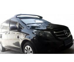 Mercedes Vito / V W447 2014↗ гг. Козырек на лобовое стекло (черный глянец, 5мм)