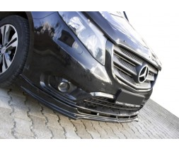 Mercedes Vito / V W447 2014↗ гг. Накладка на передний бампер ЛИП (черная)