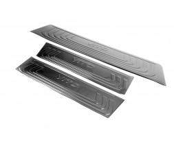 Mercedes Vito / V W447 2014+ гг. Накладки на внутренние пороги Черный Хром (3 шт, нерж) 3 накладки