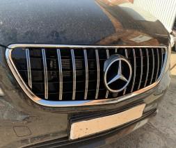 Mercedes Vito / V W447 2014+ гг. Передняя решетка GT Chrome (для Vito W447)