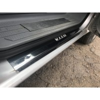 Накладки на пороги Laser-style (2 шт, сталь) для Mercedes Vito / V W447 2014+
