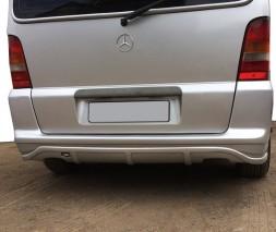 Mercedes Vito W638 1996-2003 гг. Накладка на задний бампер (под покраску)