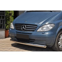 Губа нижняя ST008 (нерж) 2004-2010, 60мм для Mercedes Vito W639 2004-2015