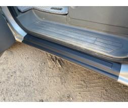 Mercedes Vito W639 2004-2015 гг. Накладки на пороги EuroCap (2 шт, ABS)
