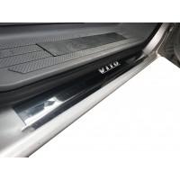 Накладки на пороги Laser-style (2 шт, сталь) для Mercedes Vito W639 2004-2015