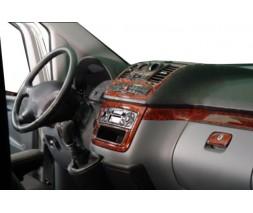 Mercedes Vito W639 2004-2015 гг. Накладки на панель (Meric, полный комплект) 2006-2014, Алюминий